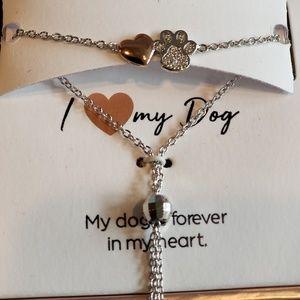 c5c66891b Jewelry - NWT I love my dog bracelet - sterling silver